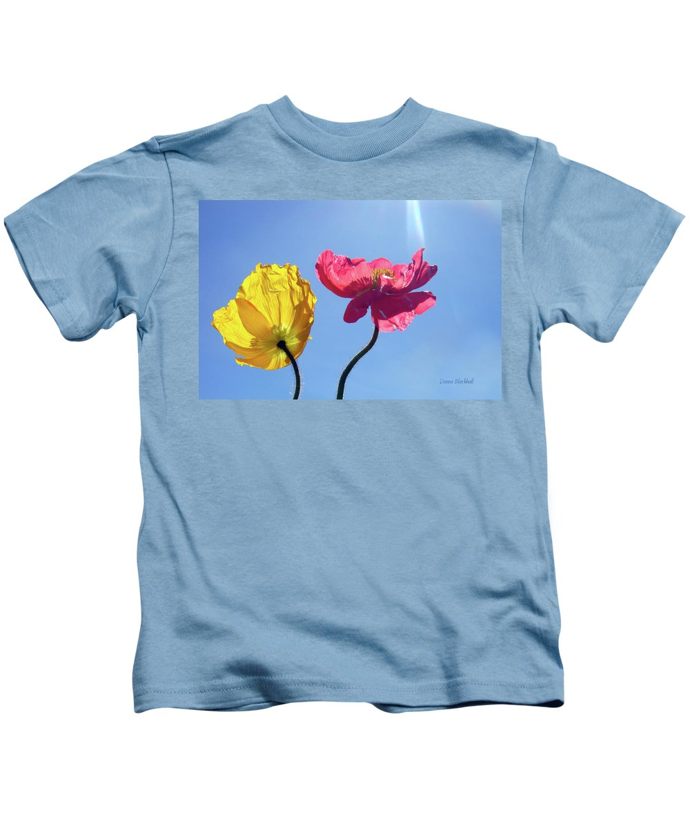 Poppy Kids T-Shirt featuring the photograph Light Stream by Donna Blackhall