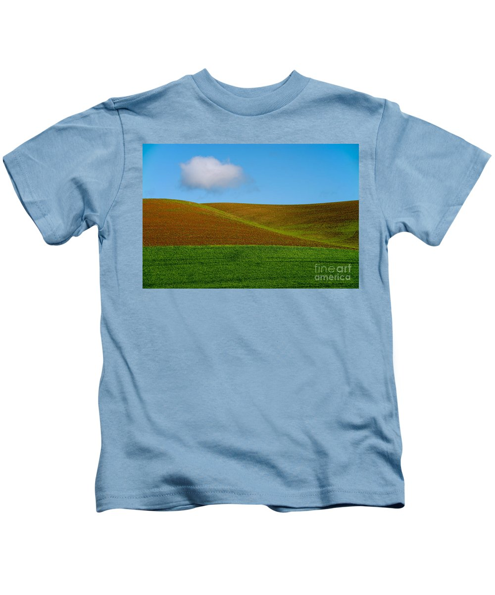 Palouse Area Kids T-Shirt featuring the photograph Little White Cloud by Bob Phillips