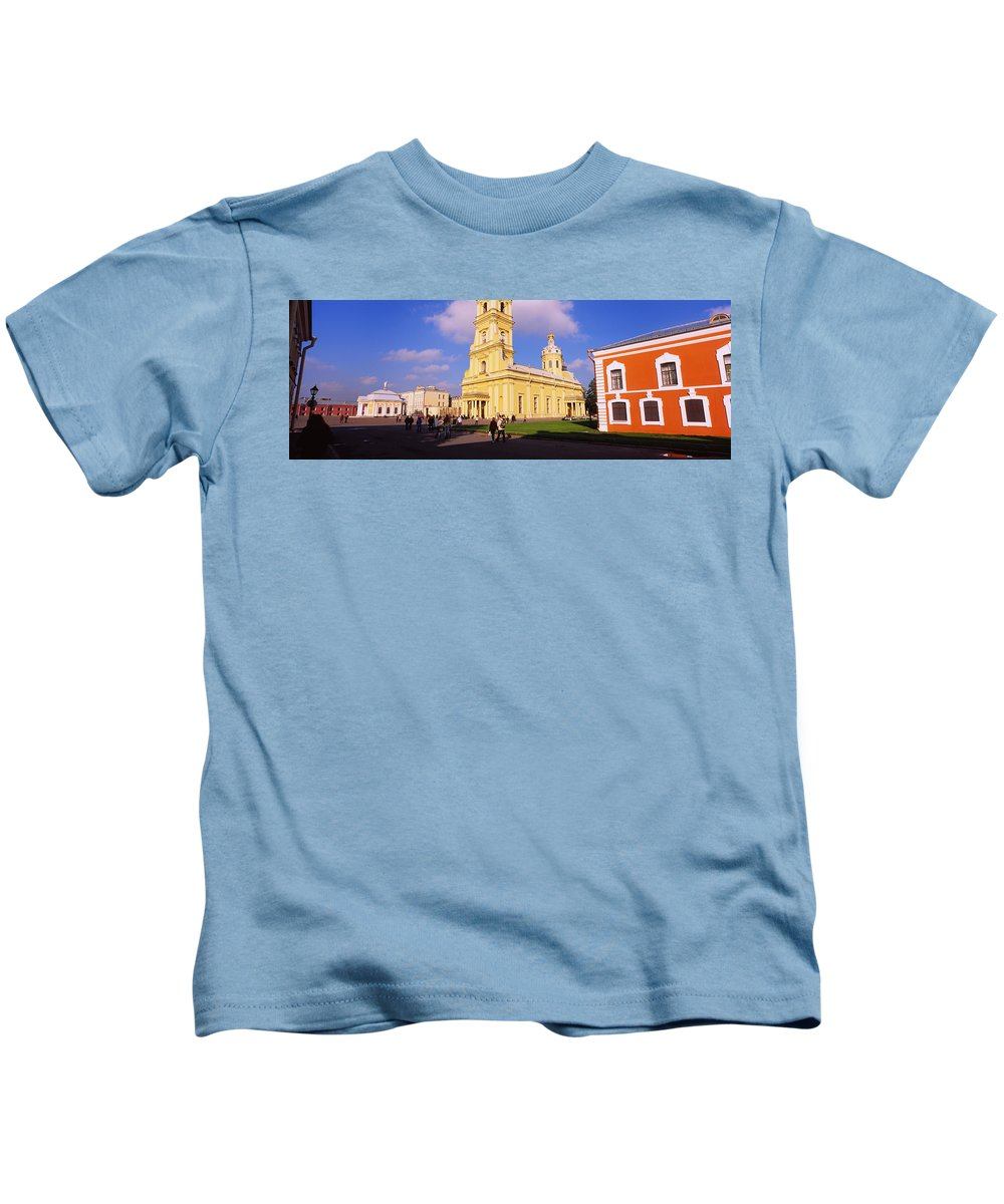 Photography Kids T-Shirt featuring the photograph Low Angle View Of A Cathedral, Peter by Panoramic Images