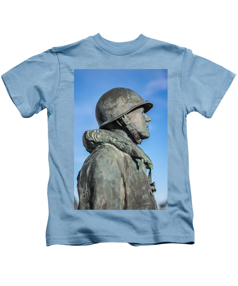 Florida Kids T-Shirt featuring the photograph Military Soldier by Jon Cody