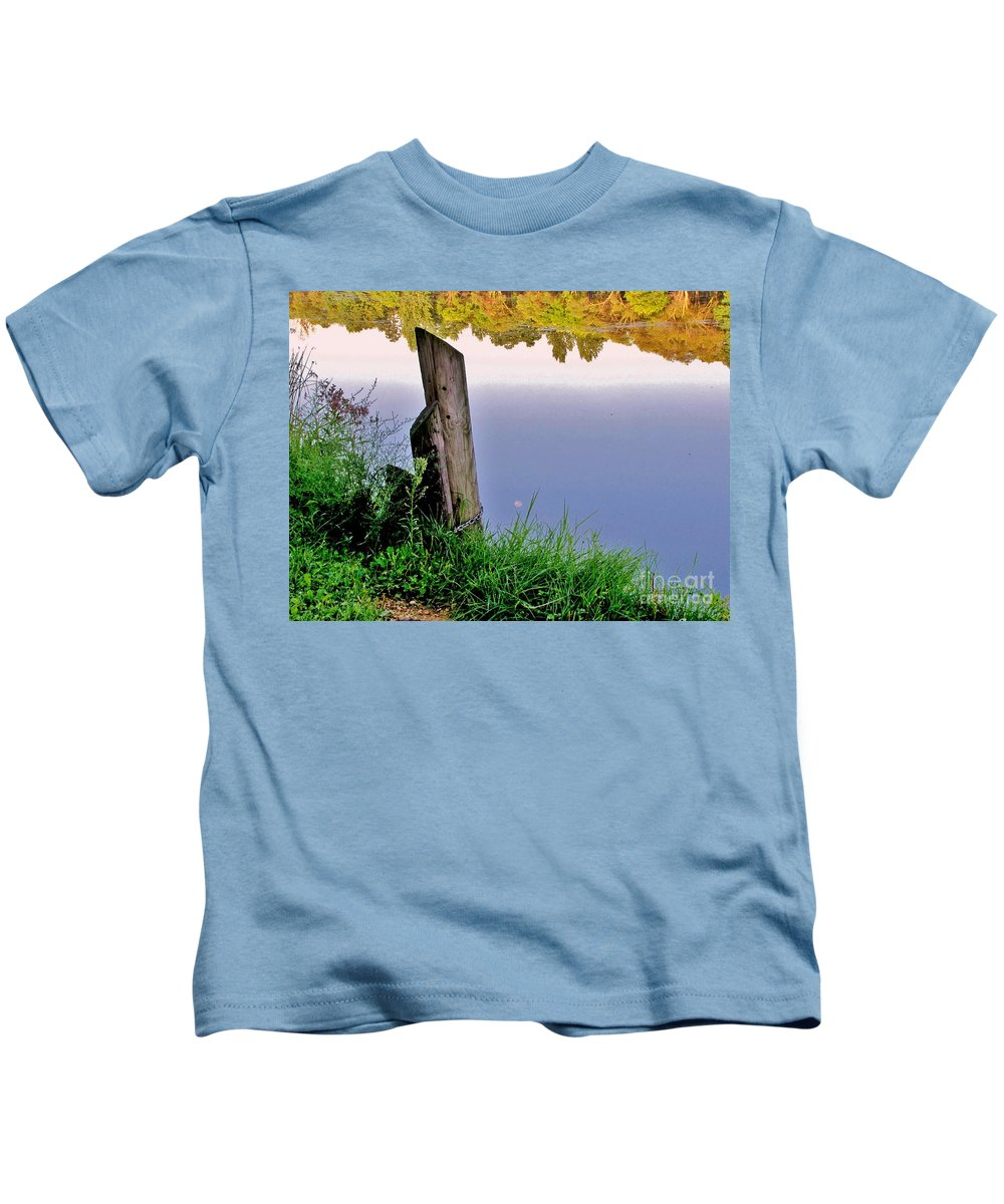 River Kids T-Shirt featuring the photograph Moon River by Marilyn Smith