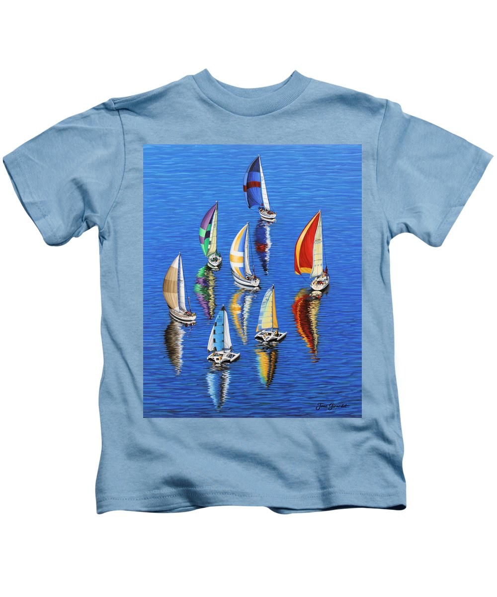 Ocean Kids T-Shirt featuring the painting Morning Reflections by Jane Girardot