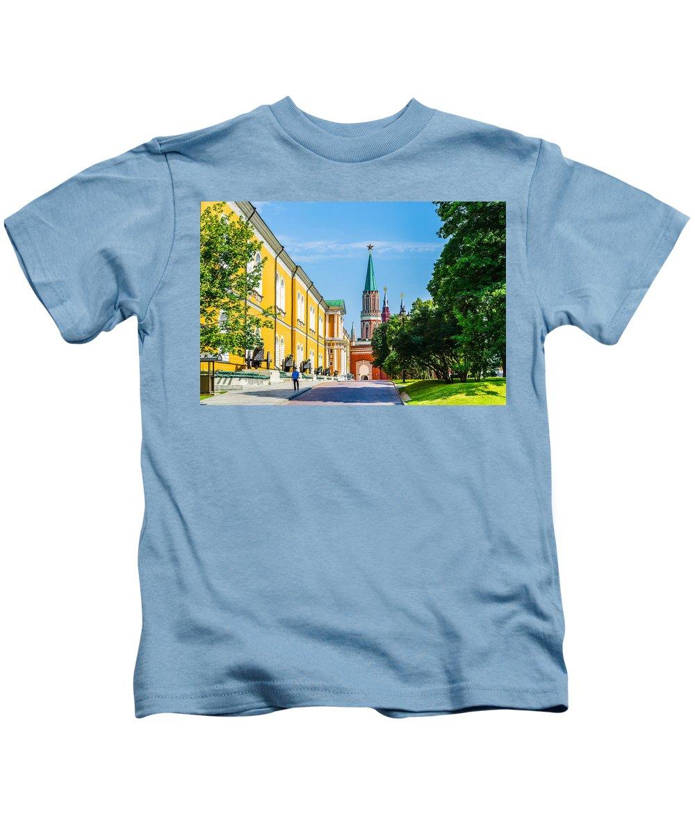 Moscow Kids T-Shirt featuring the photograph Moscow Kremlin Tour - 17 Of 70 by Alexander Senin