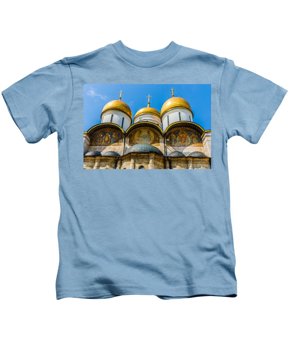 Moscow Kids T-Shirt featuring the photograph Moscow Kremlin Tour - 38 Of 70 by Alexander Senin