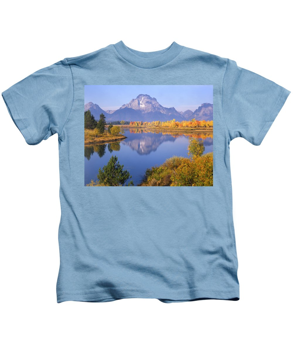 Mt. Moran Kids T-Shirt featuring the photograph 1m9234-mt. Moran Reflection, Wy by Ed Cooper Photography