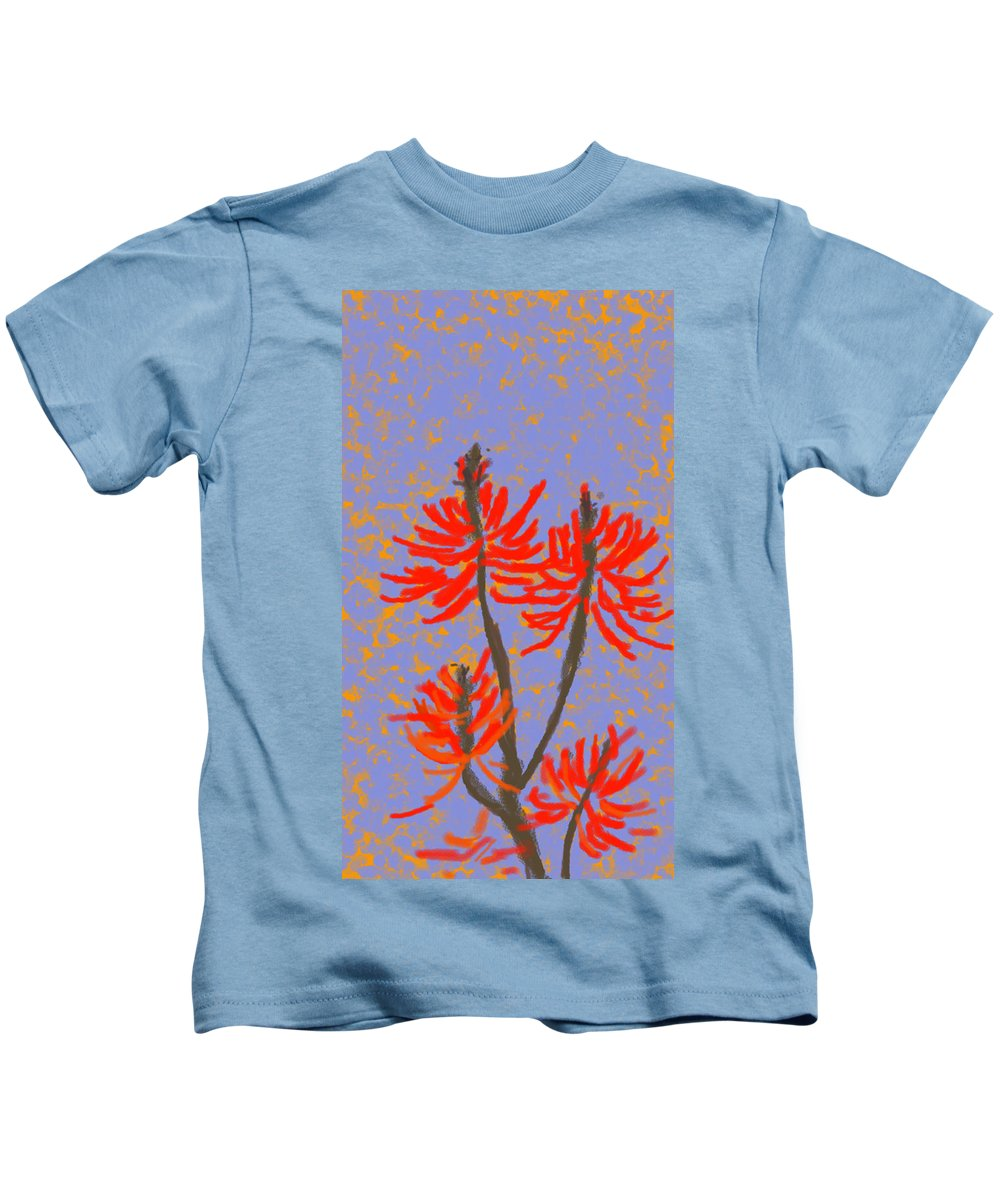 Brasilizan Tree Kids T-Shirt featuring the painting Mulungu by Beth Klock