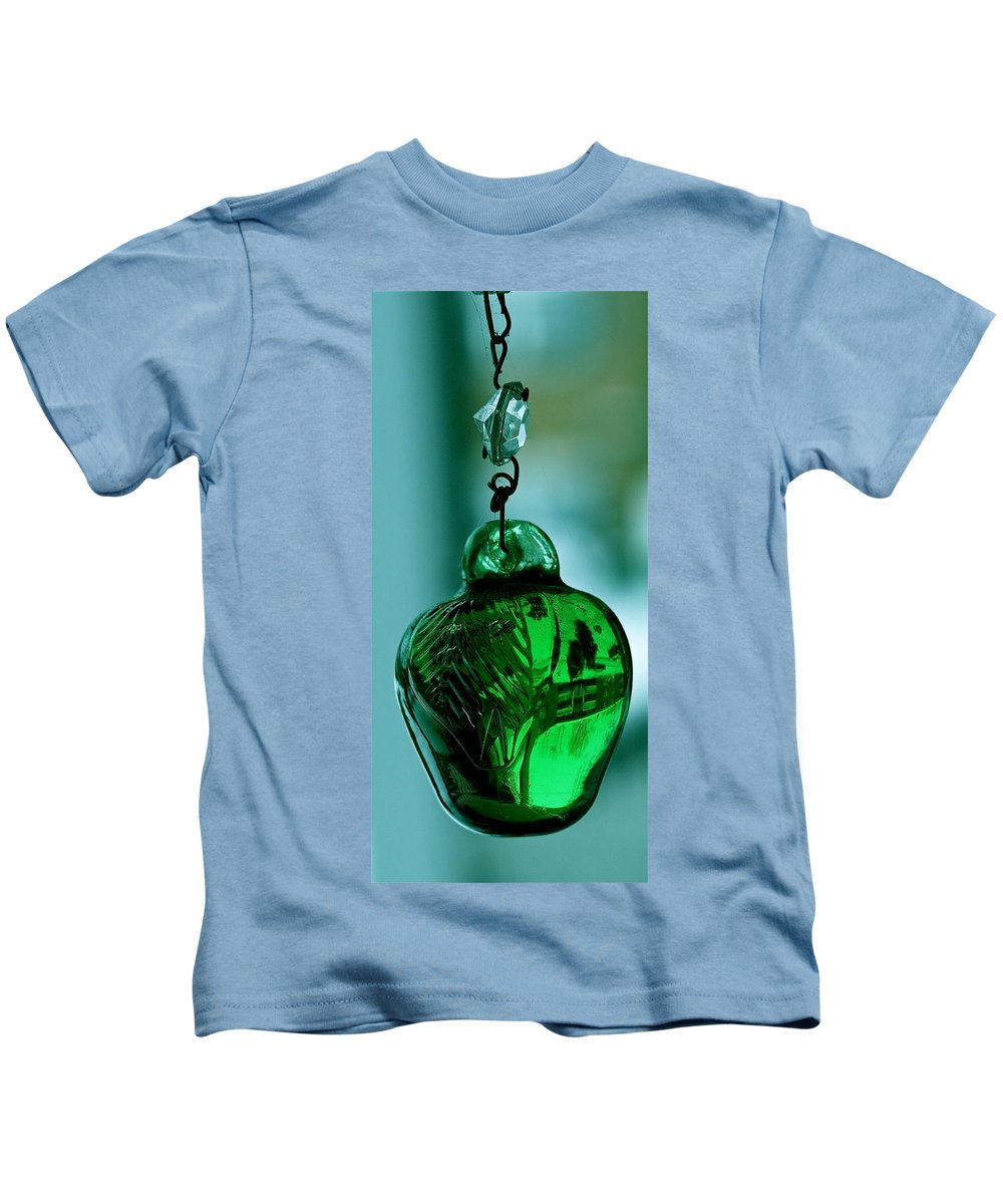 Hand Blown Ventian Glass Kids T-Shirt featuring the photograph Murano Memories Three by Ira Shander