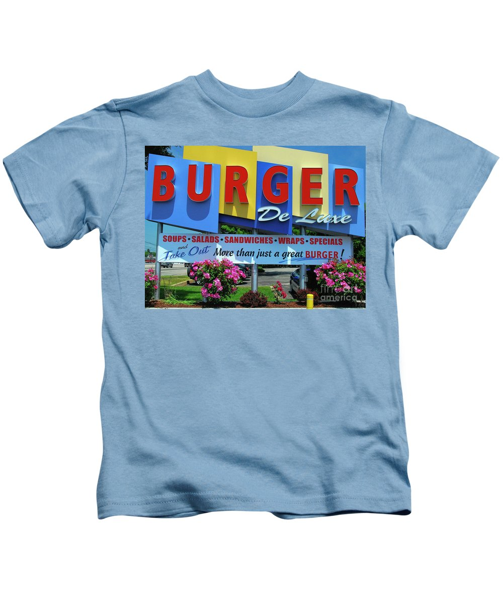New Jersey Diner Kids T-Shirt featuring the photograph New Jersey Diner by Allen Beatty
