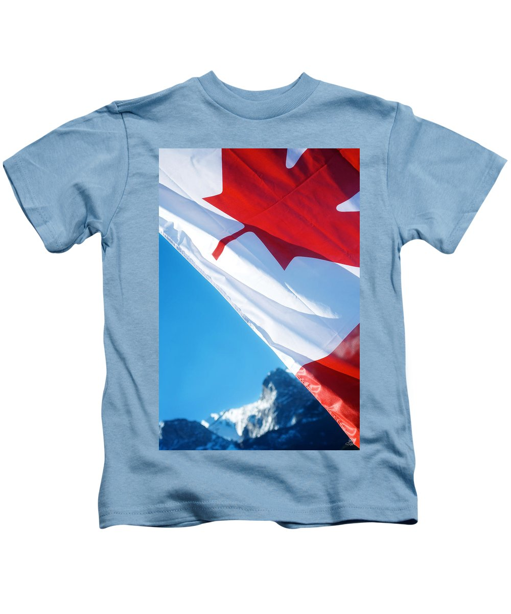 Canada Kids T-Shirt featuring the photograph O Canada by Lisa Knechtel