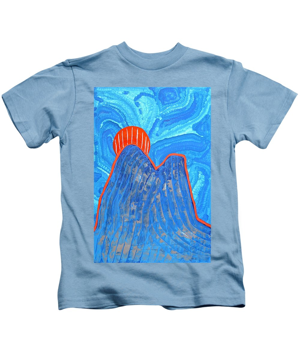 Abstract Realism Kids T-Shirt featuring the painting Os Dois Irmaos Original Painting Sold by Sol Luckman