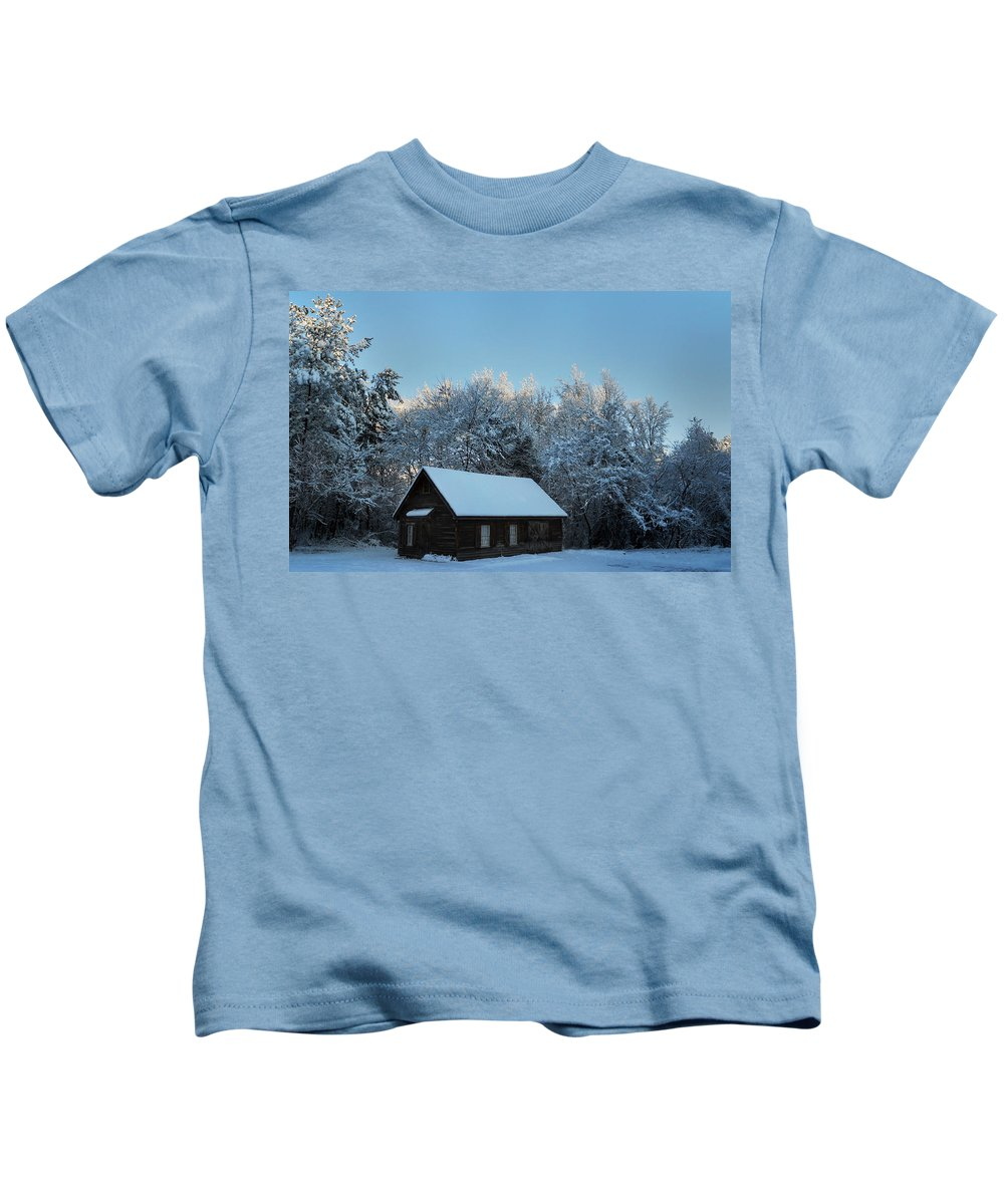 Cabin Kids T-Shirt featuring the photograph Outpost by Skip Willits