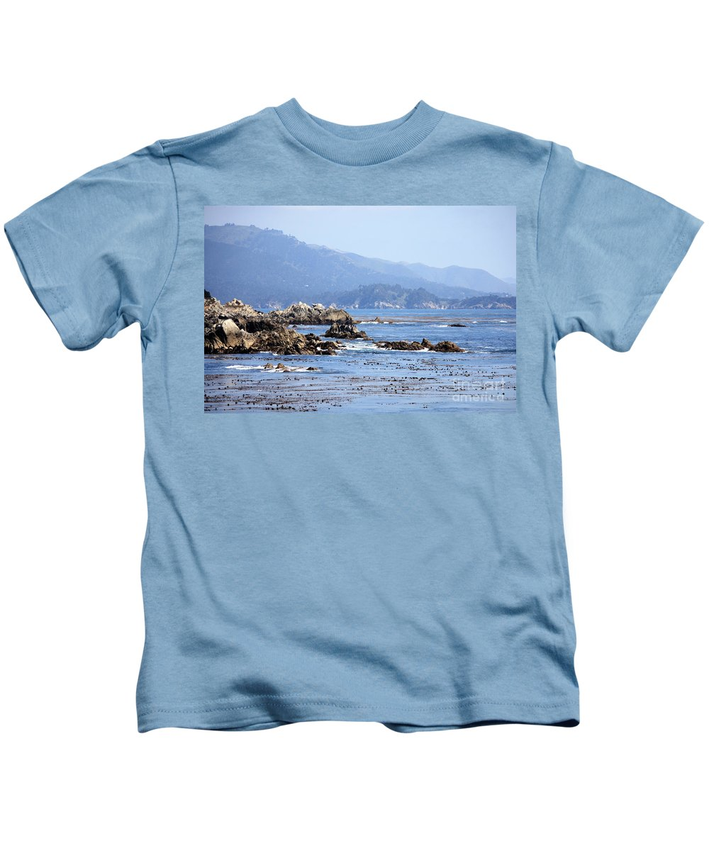 Ocean Kids T-Shirt featuring the photograph Pacific Blues by Carol Groenen