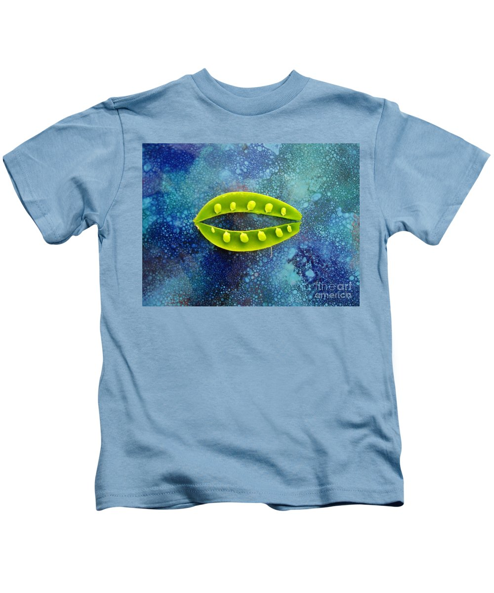 Pea Pod Kids T-Shirt featuring the photograph Pea Pod by Janell R Colburn
