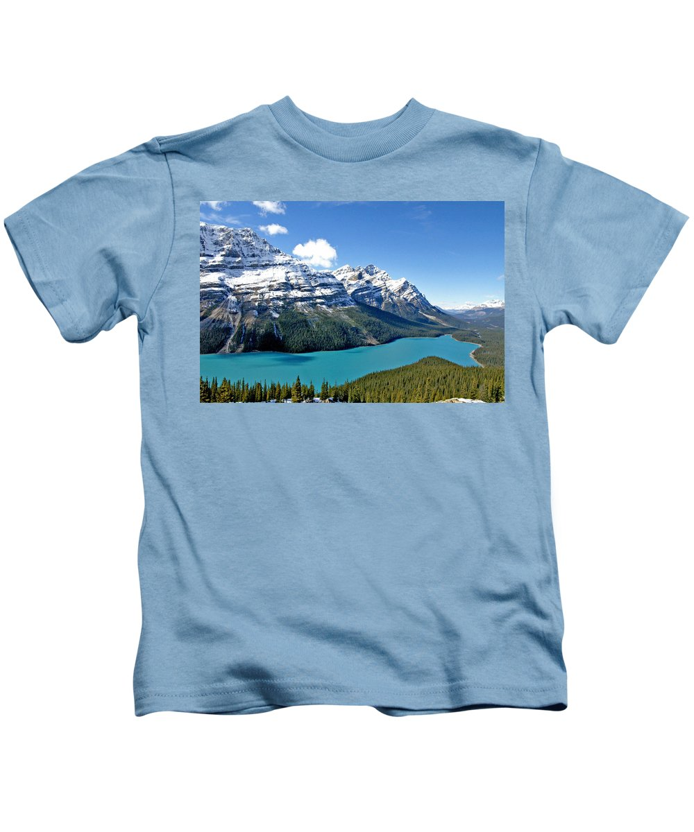Canada Kids T-Shirt featuring the photograph Peyto Lake October by Jeremy Rhoades