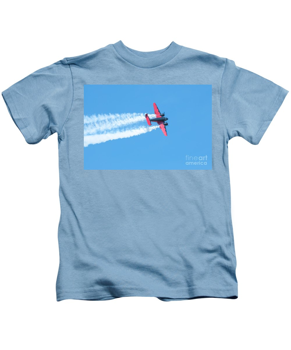 War Kids T-Shirt featuring the photograph Plane In Air by Amel Dizdarevic