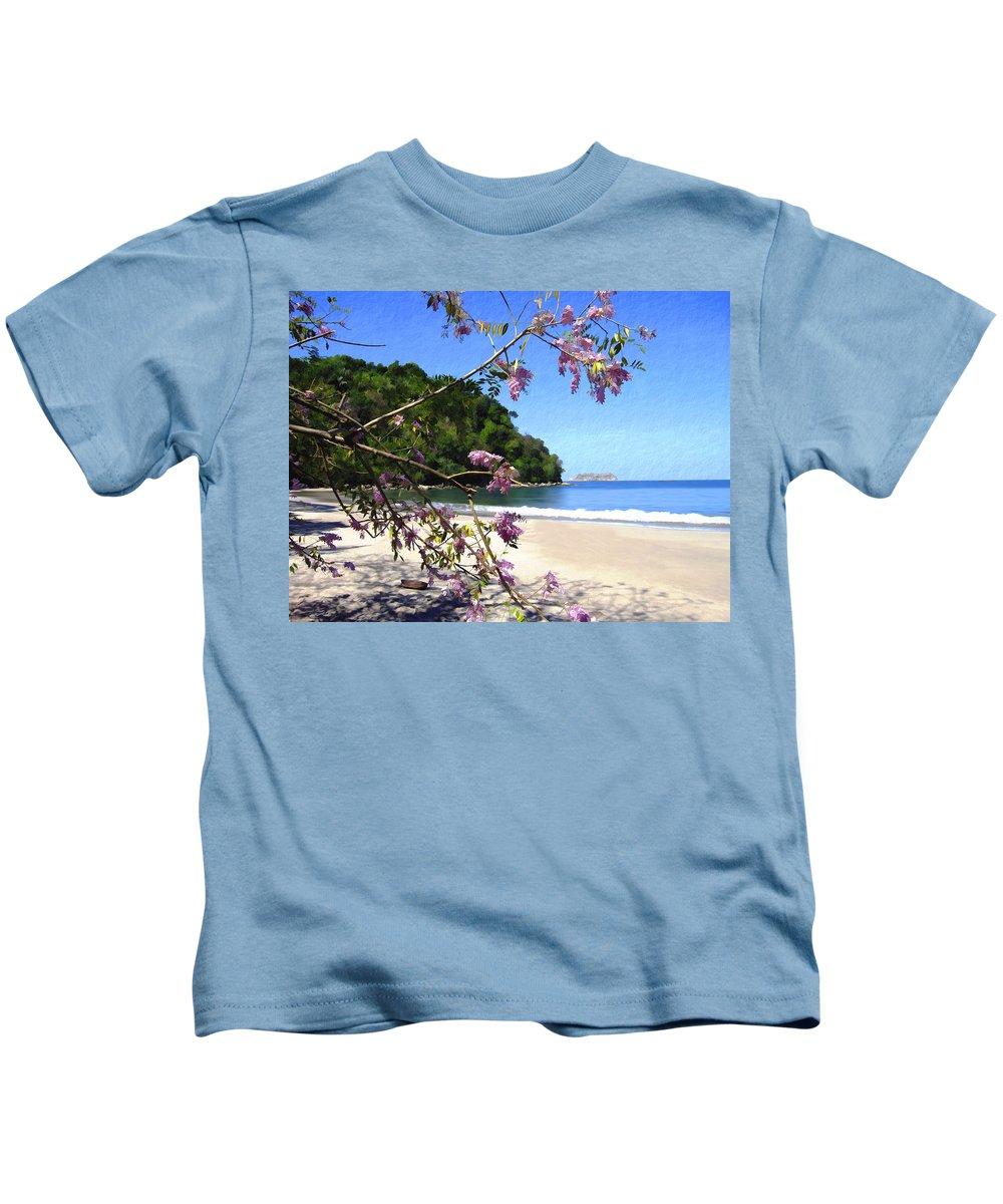 Beach Kids T-Shirt featuring the photograph Playa Espadillia Sur Manuel Antonio National Park Costa Rica by Kurt Van Wagner