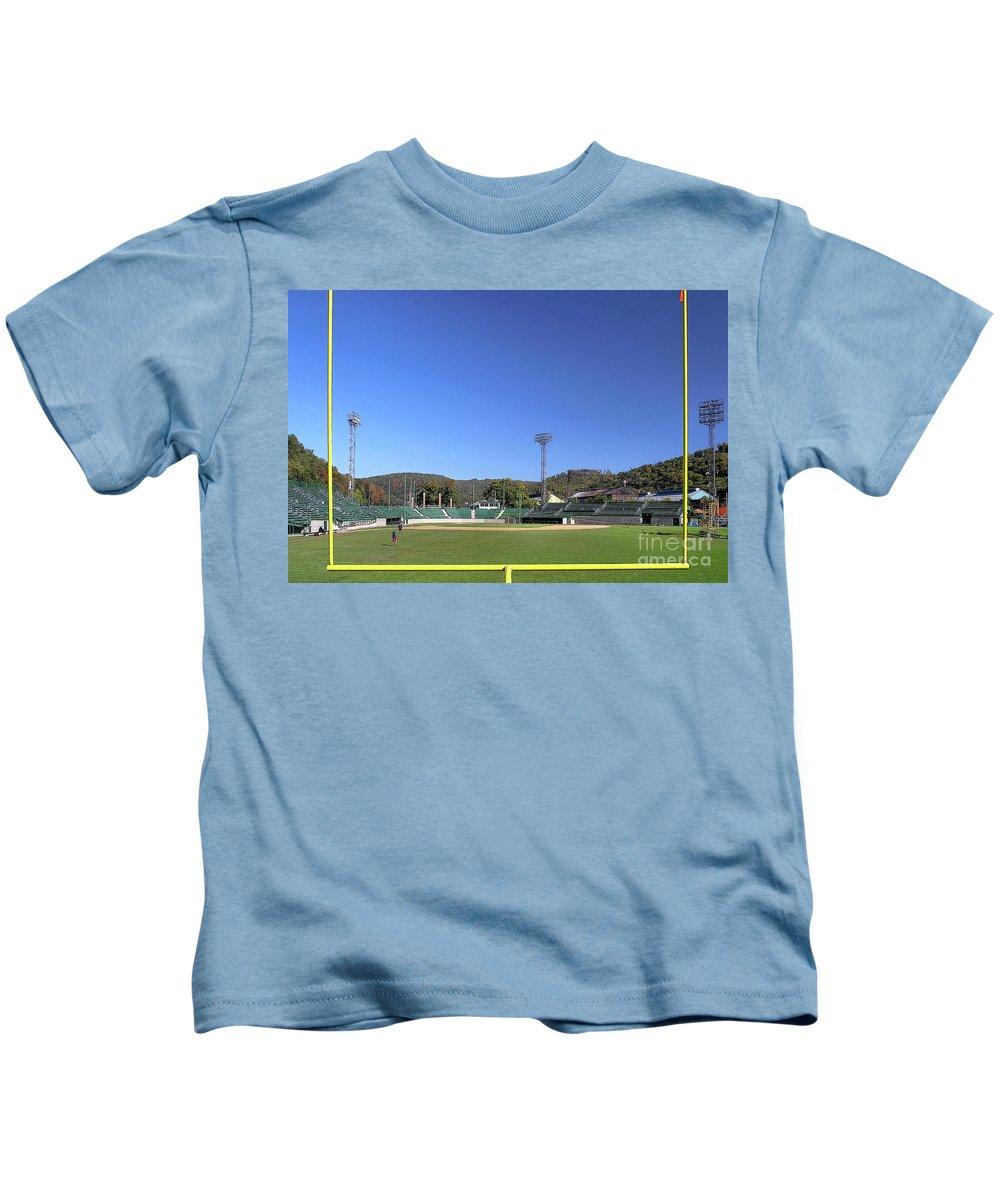 Johnstown Kids T-Shirt featuring the photograph Point Stadium - Johnstown by John Waclo