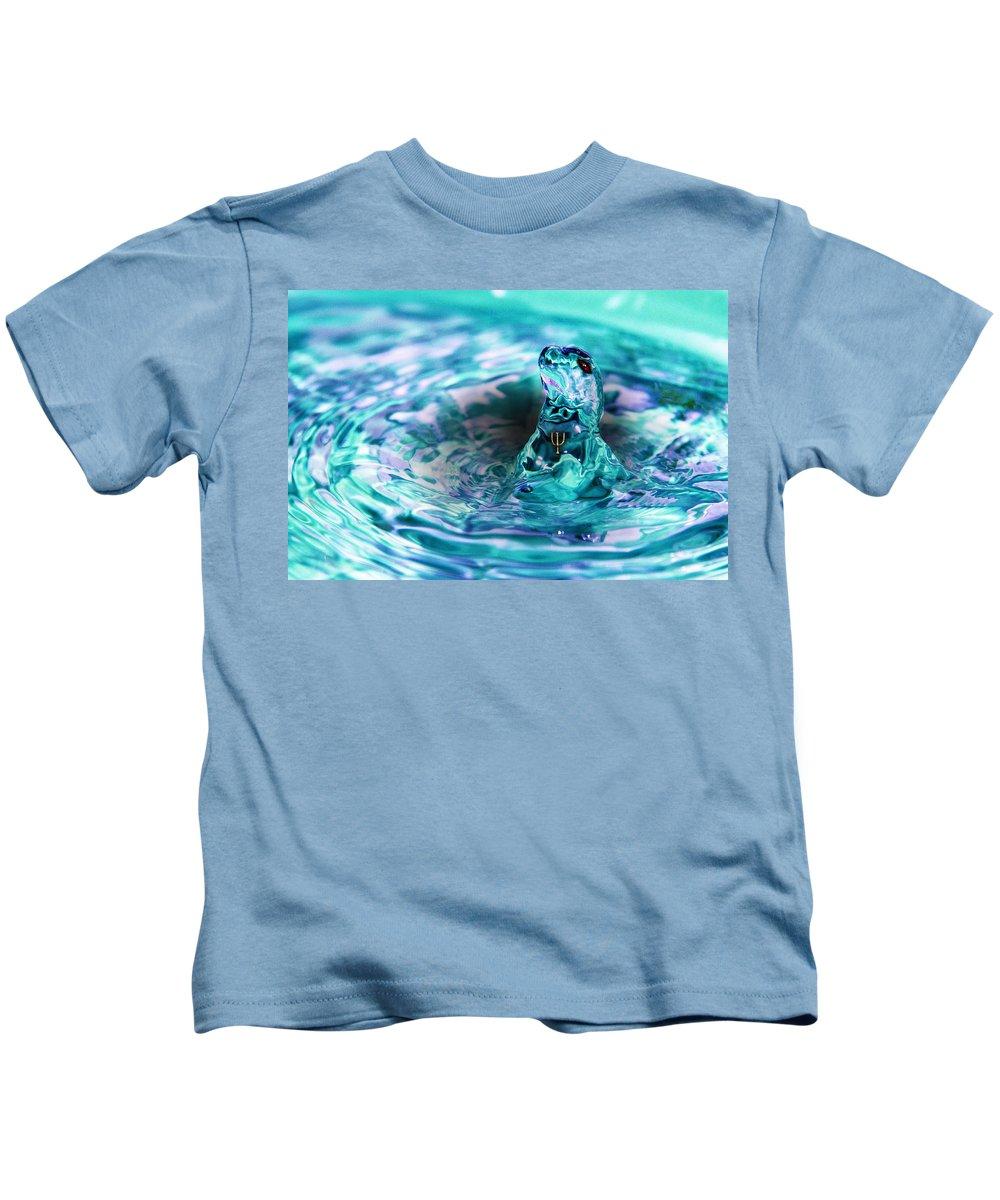 Water Kids T-Shirt featuring the digital art Poseidons Warriors Xiv by Dray Van Beeck