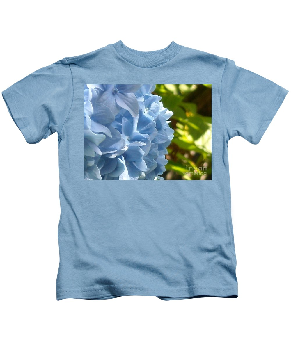 Flower Kids T-Shirt featuring the photograph Pretty Blue Flower by Line Gagne