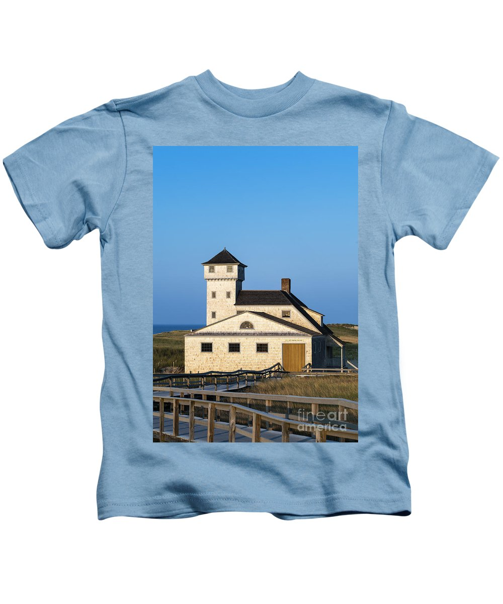 Cape Cod Kids T-Shirt featuring the photograph Race Point Lifesaving Museum by John Greim