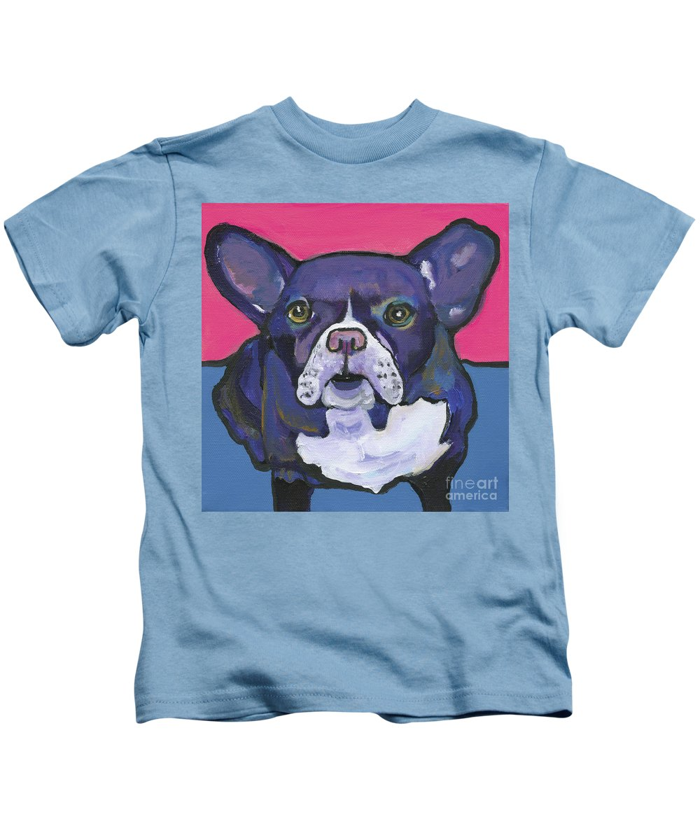 Pat Saunders-white Canvas Prints Kids T-Shirt featuring the painting Radar by Pat Saunders-White