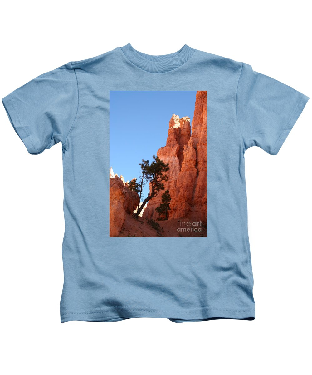 Canyon Kids T-Shirt featuring the photograph Red Rocks Of Bryce Canyon by Christiane Schulze Art And Photography