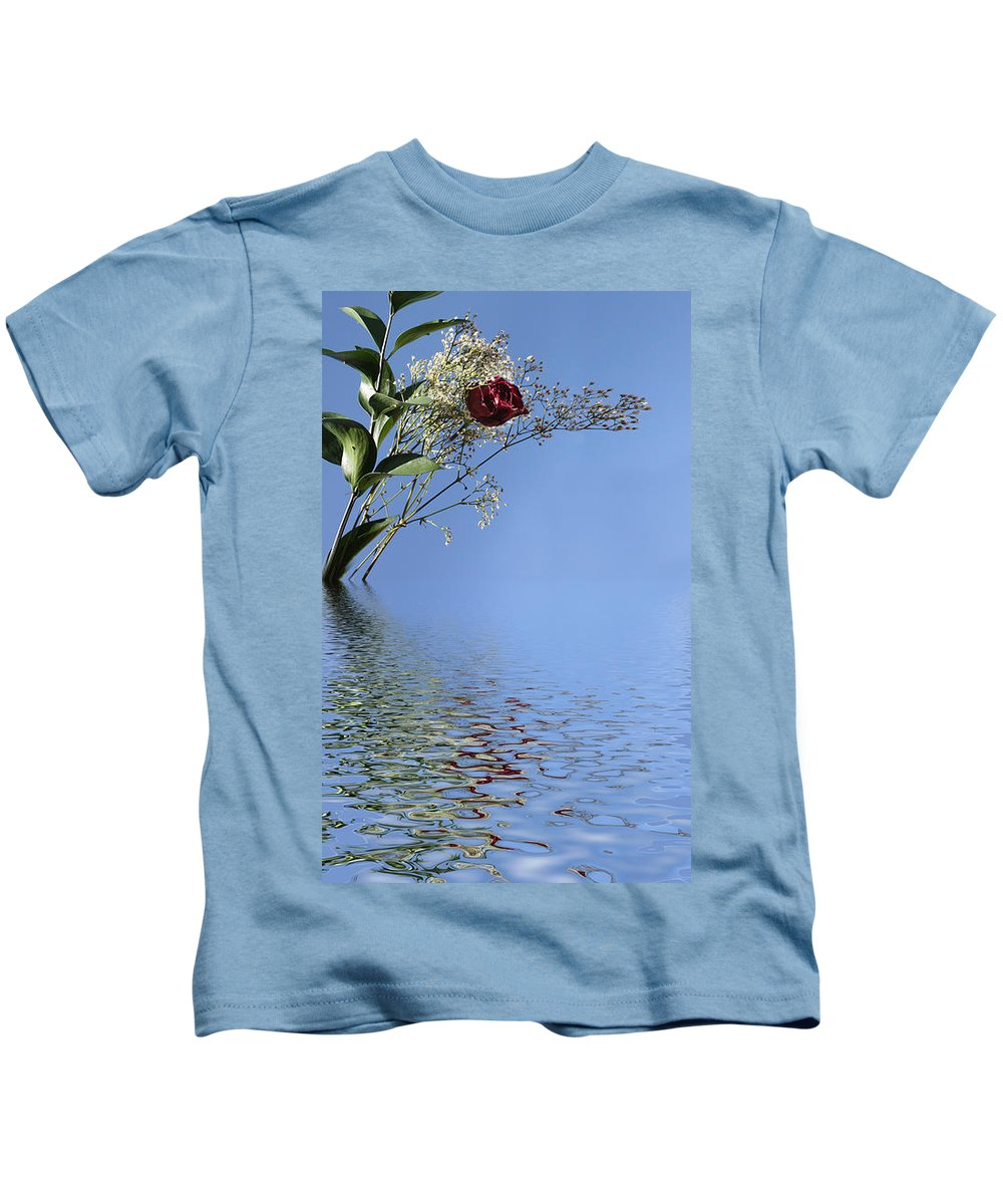 Roses Kids T-Shirt featuring the photograph Rosy Reflection - Left Side by Gravityx9 Designs