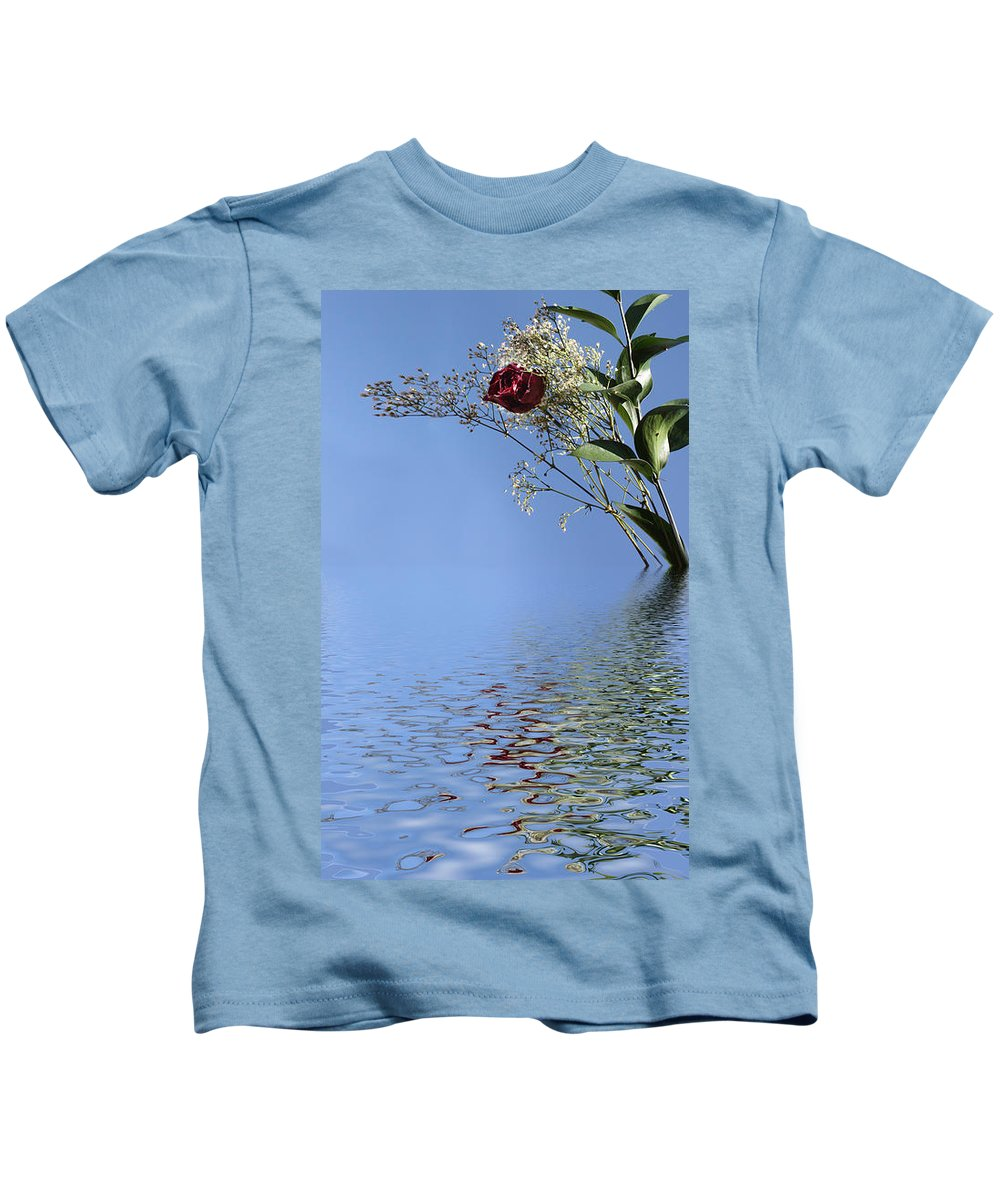 Roses Kids T-Shirt featuring the photograph Rosy Reflection - Right Side by Gravityx9 Designs