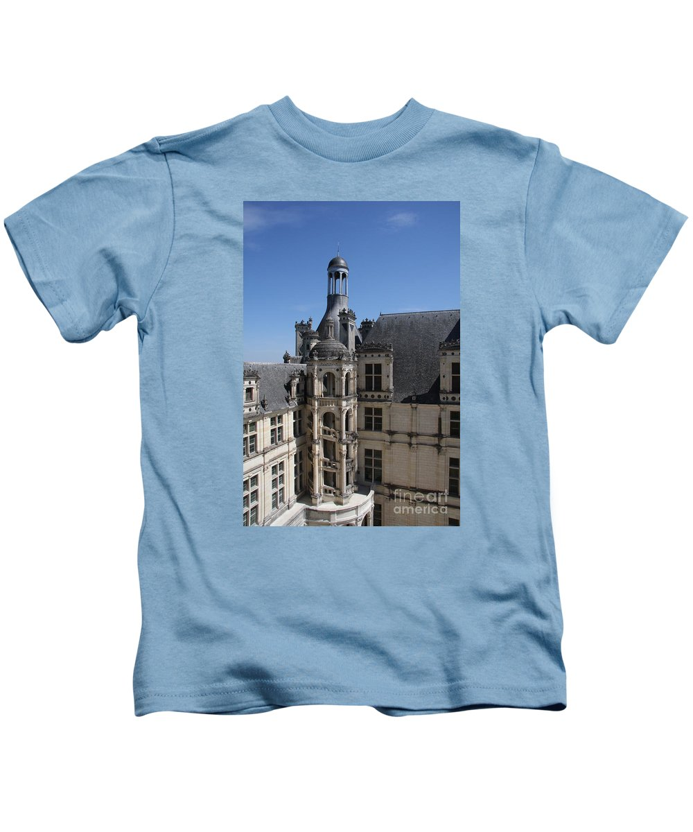 Palace Kids T-Shirt featuring the photograph Round Stairway by Christiane Schulze Art And Photography