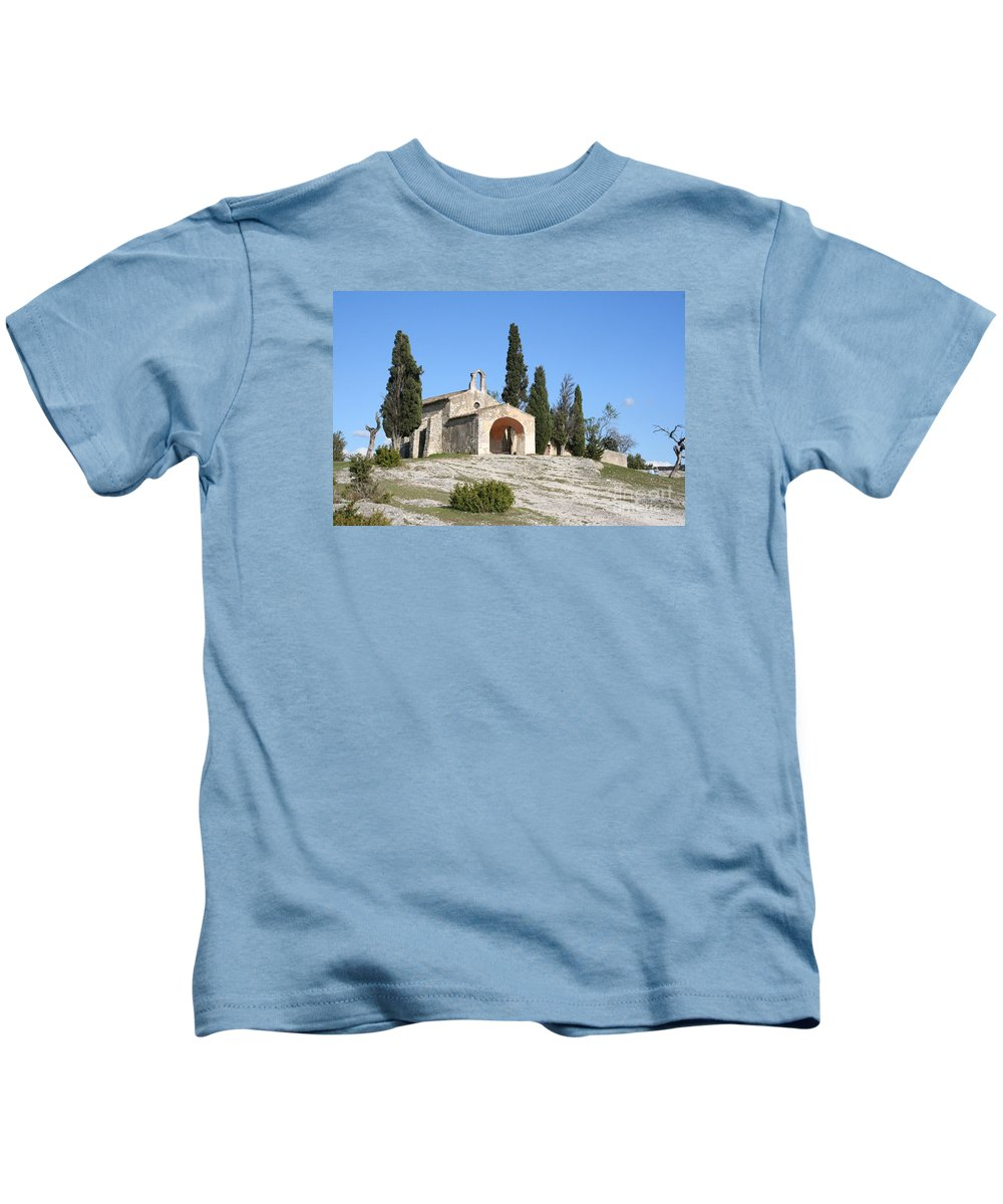 Chapel Kids T-Shirt featuring the photograph Saint Sixte An Old Chapel by Christiane Schulze Art And Photography