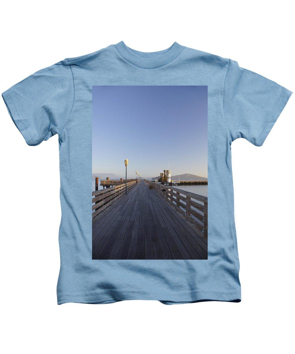 San Francisco County Kids T-Shirt featuring the photograph San Francisco Pier by Brian Kamprath