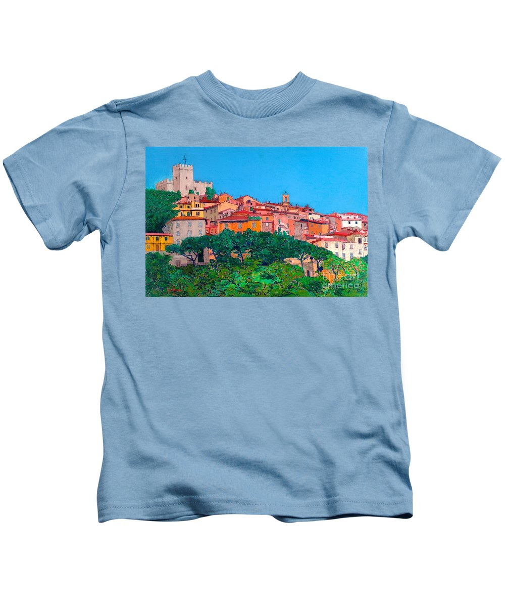 Landscape Kids T-Shirt featuring the painting Saturina by Allan P Friedlander