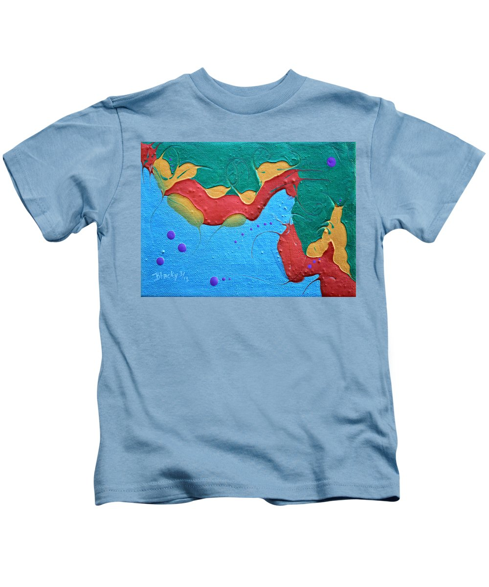 Seahorse Kids T-Shirt featuring the painting Seahorse by Donna Blackhall