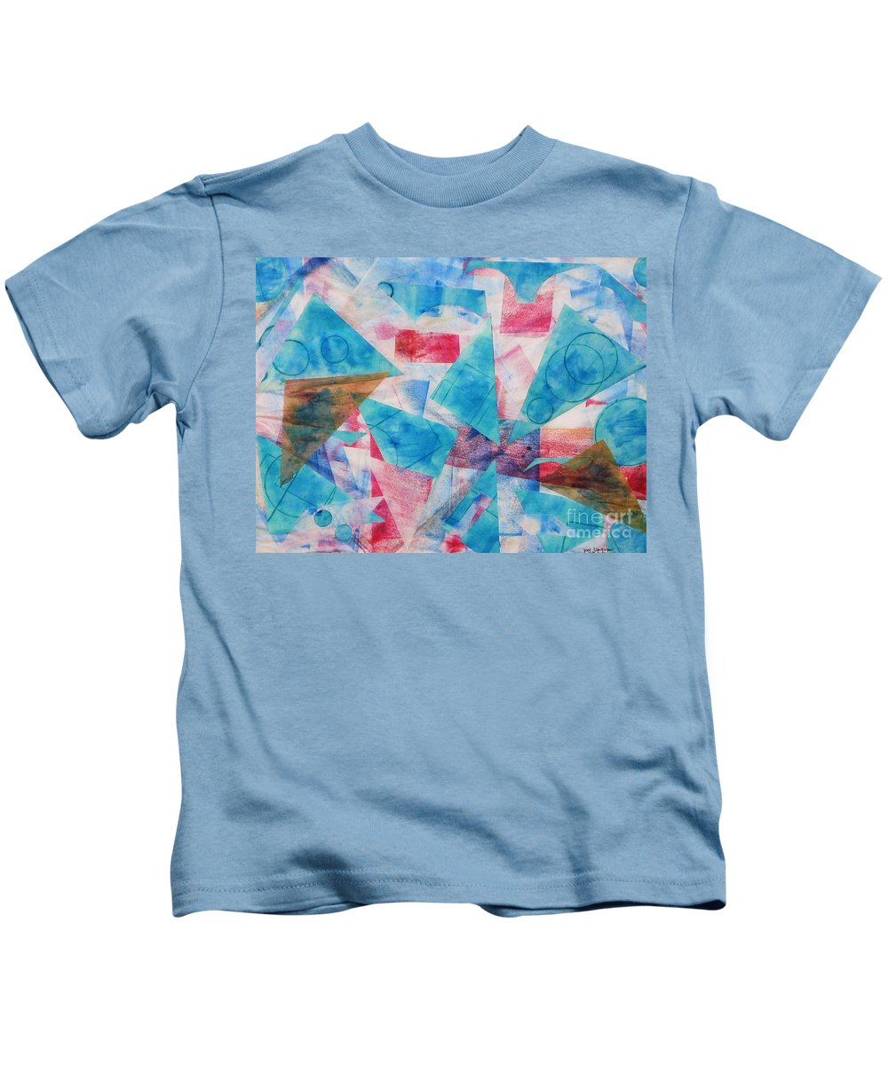 Collage Kids T-Shirt featuring the painting Serendipity by Yael VanGruber