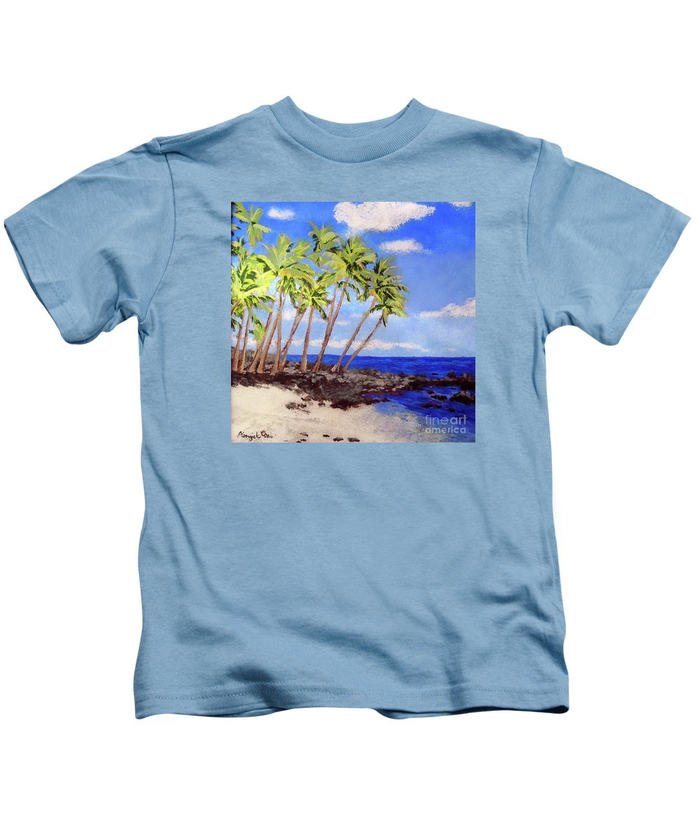 Landscape Kids T-Shirt featuring the painting Soft Seabreeze by Susan Plenzick
