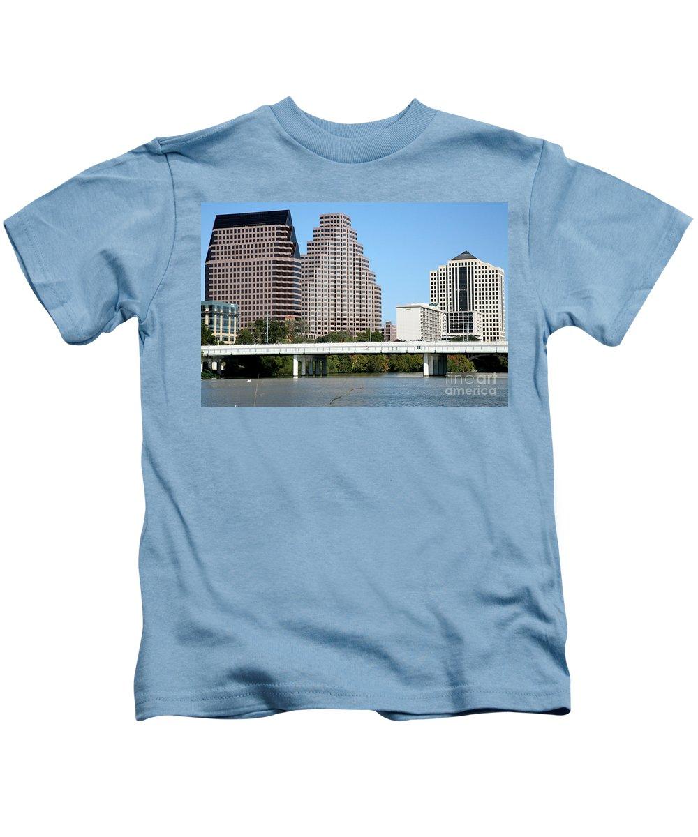 Austin Kids T-Shirt featuring the photograph South First Street Bridge by Bill Cobb