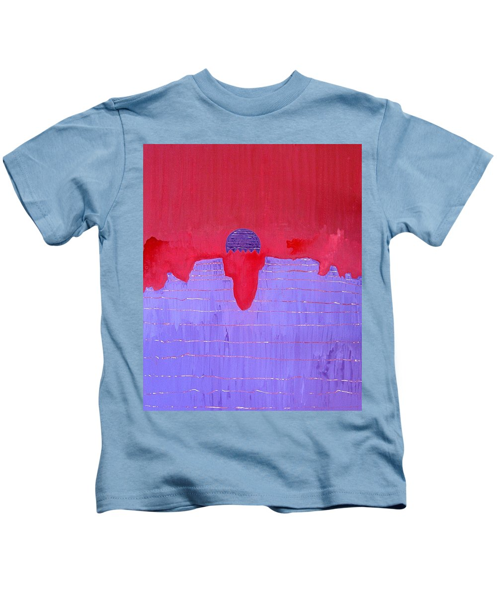 Painting Kids T-Shirt featuring the painting South Rim Sun Original Painting by Sol Luckman