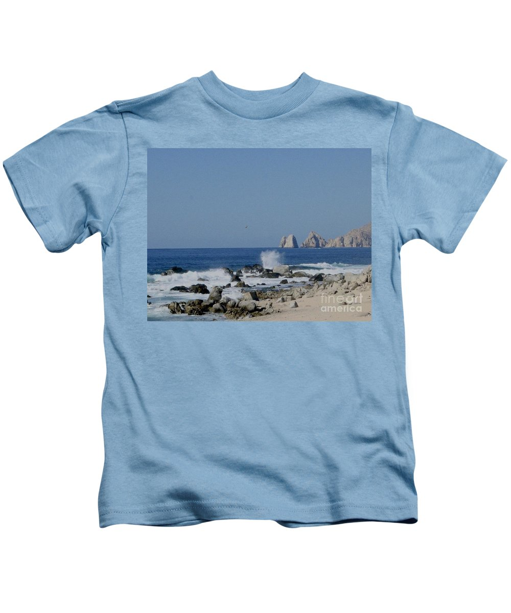 Blue Kids T-Shirt featuring the photograph Splash by Christy Gendalia