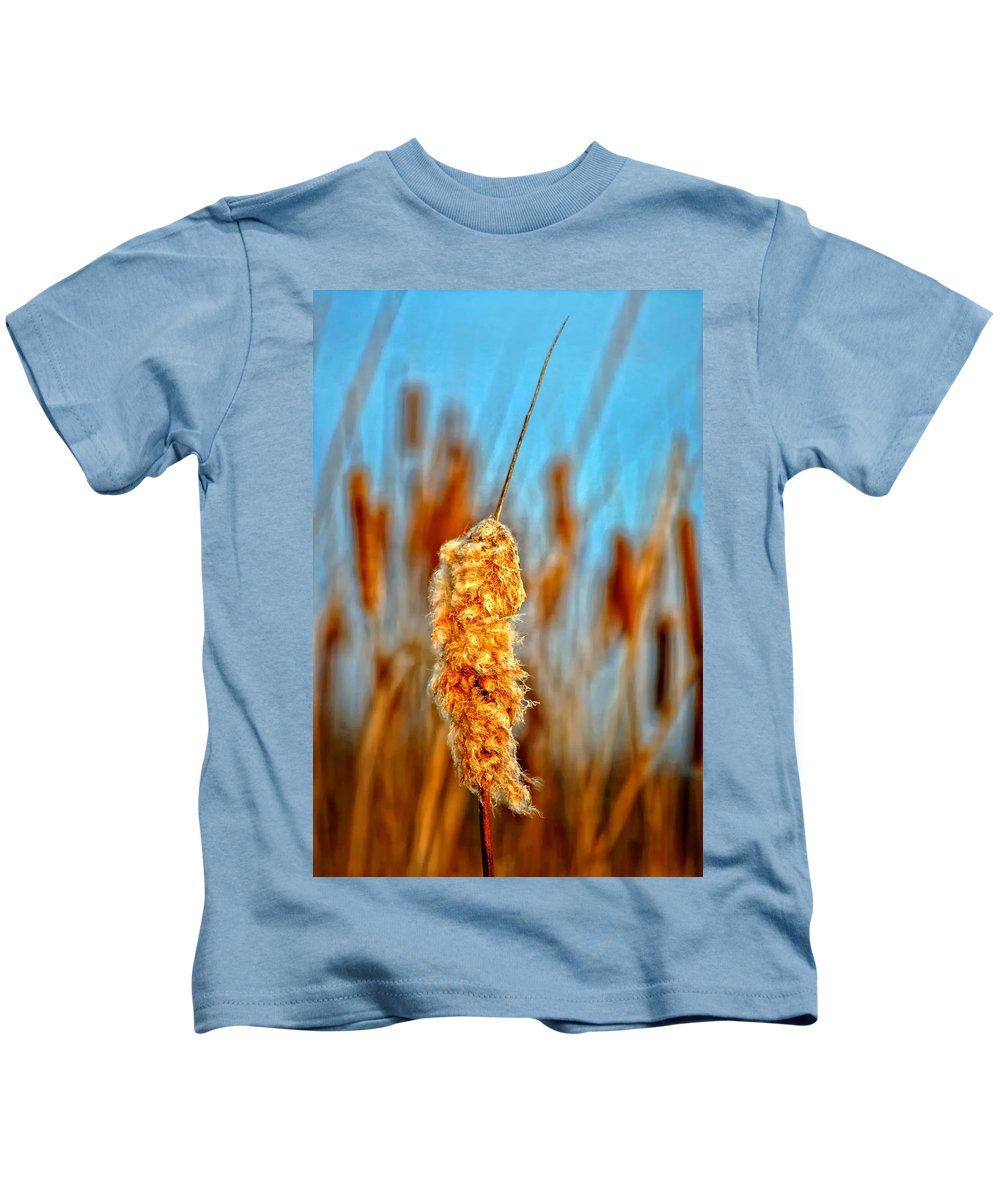 Cattail Kids T-Shirt featuring the photograph Standing Out From The Crowd by Steve Harrington