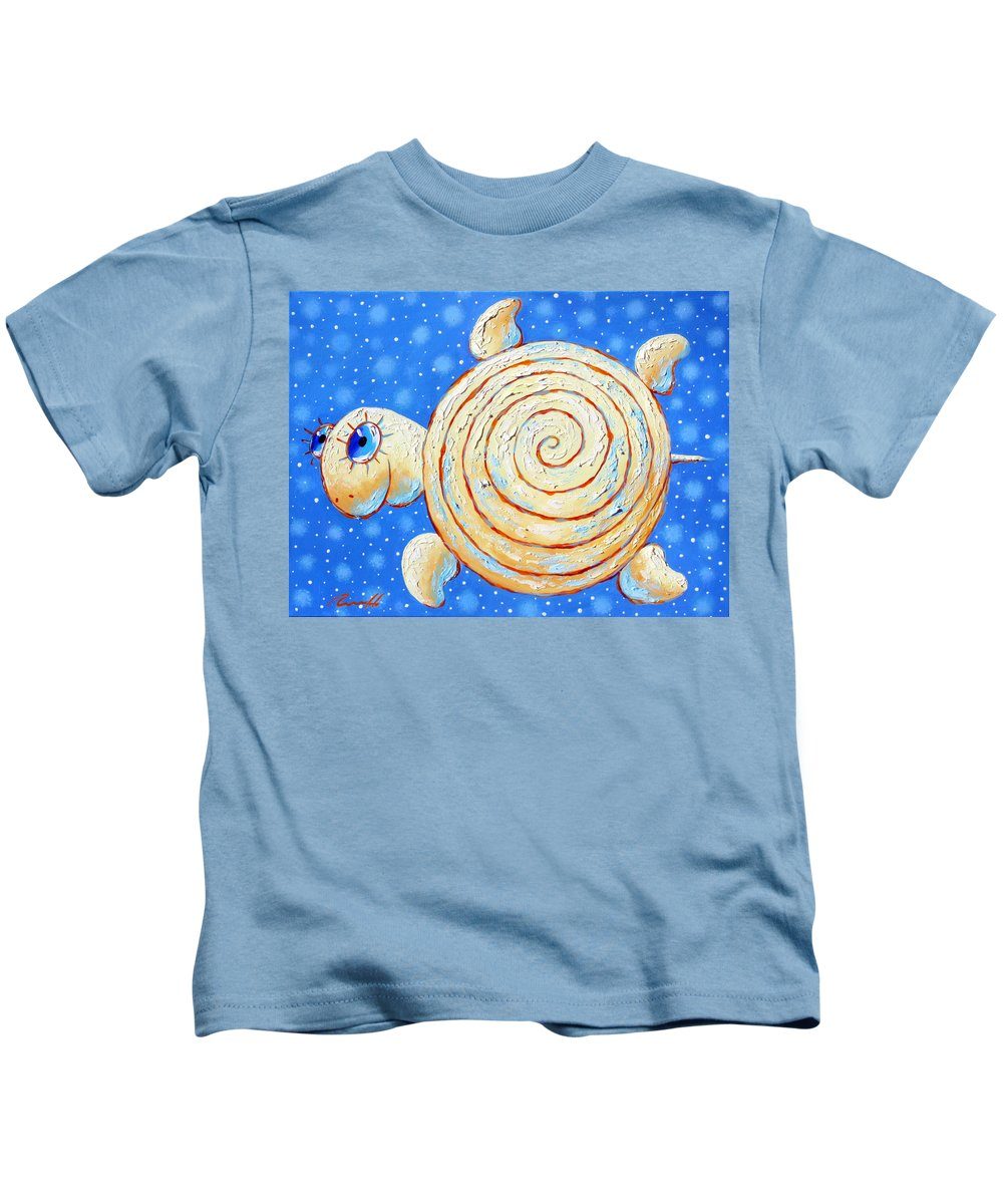 Starry Journey Kids T-Shirt featuring the painting Starry Journey by Sergey Lipovtsev