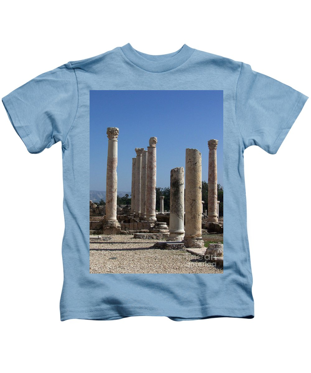 Israel Kids T-Shirt featuring the photograph Still Standing by Kathy McClure