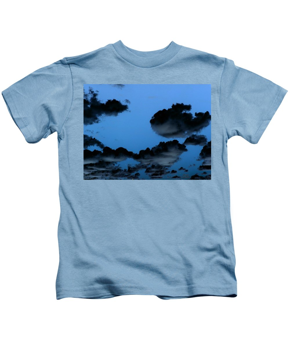 Clouds Kids T-Shirt featuring the painting Storm Clouds by Bruce Nutting