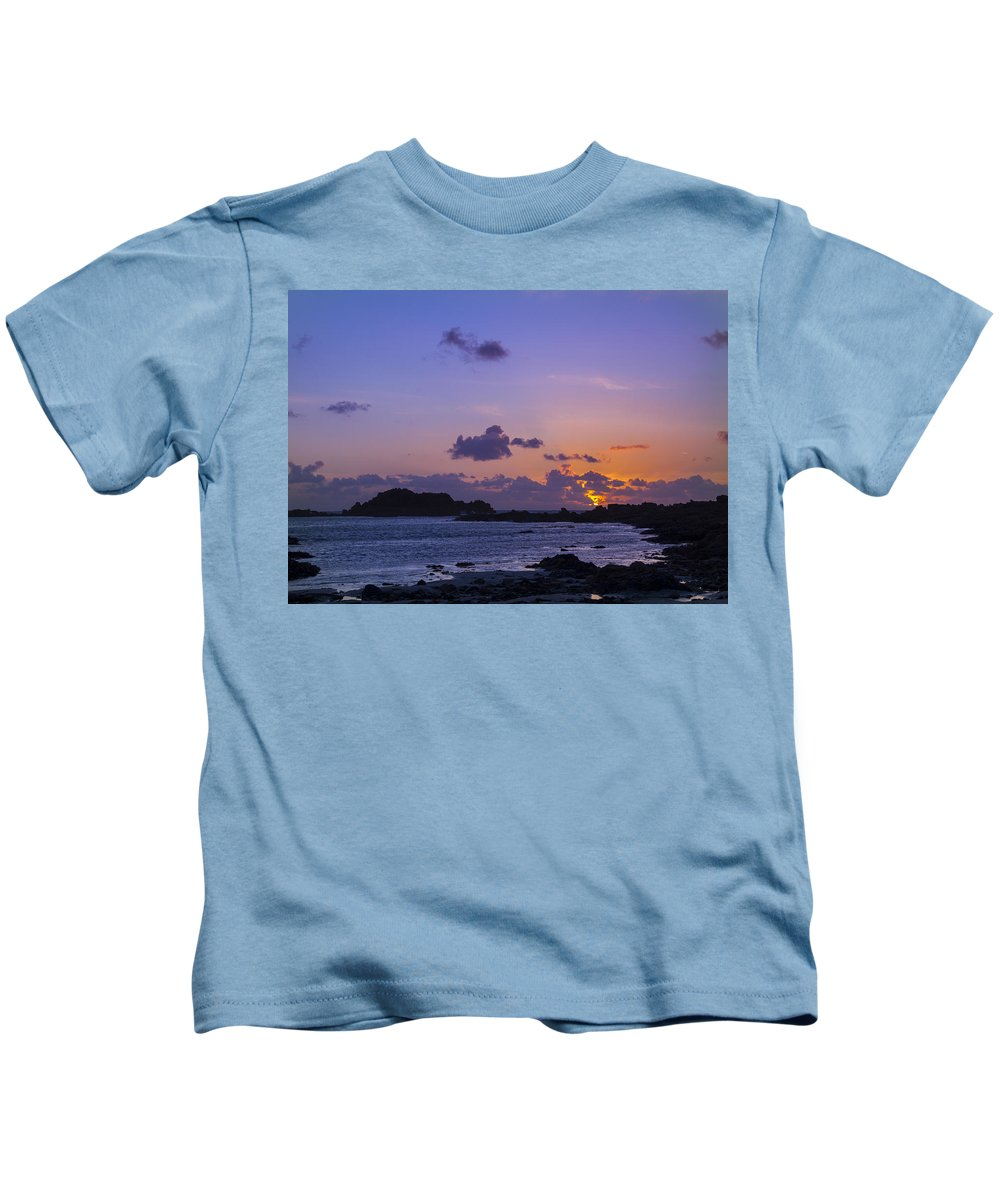 Sunset Kids T-Shirt featuring the photograph Sunset On Guernsey by Chris Smith