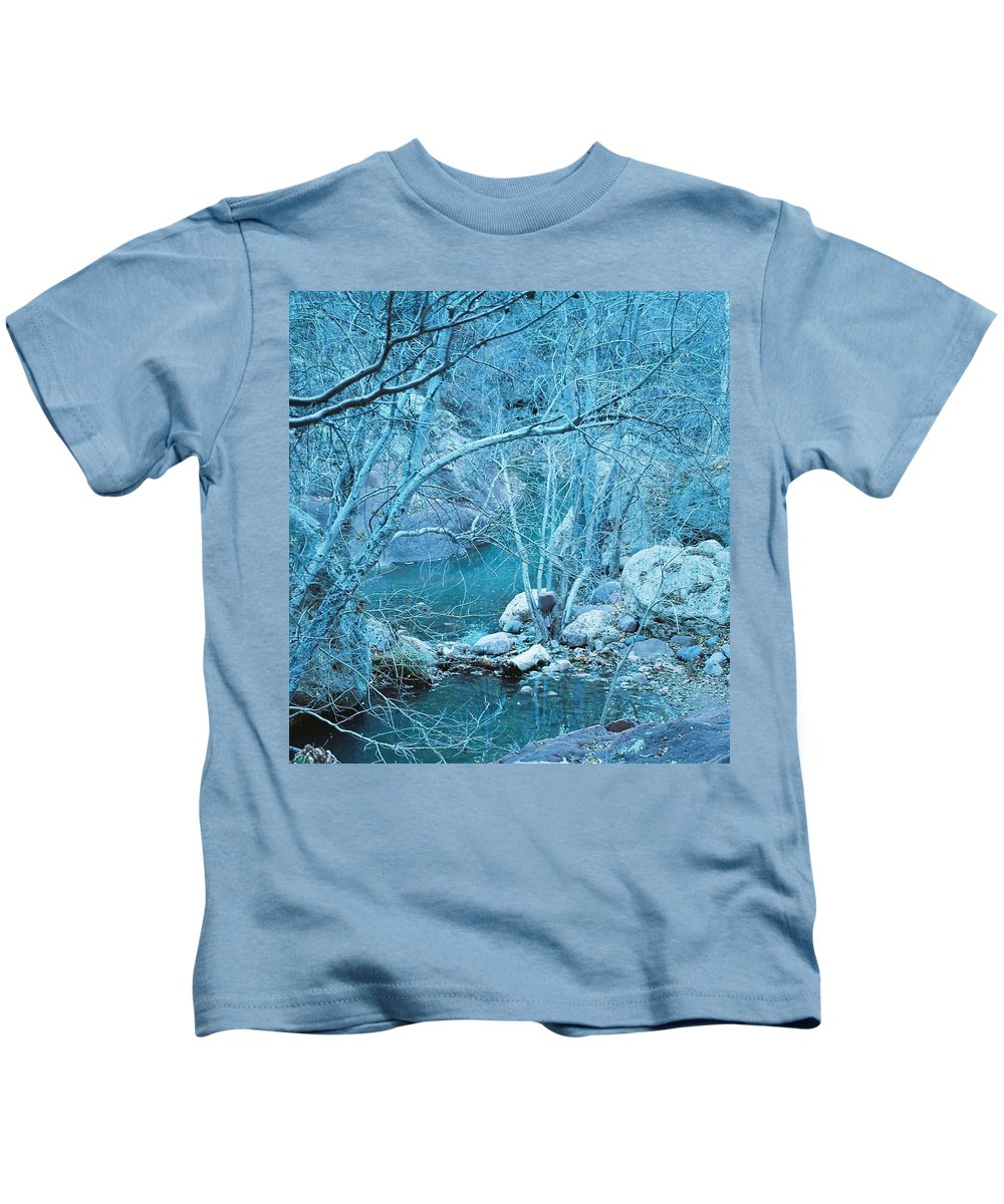 Sycamore Kids T-Shirt featuring the photograph Sycamores And River by Kerri Mortenson