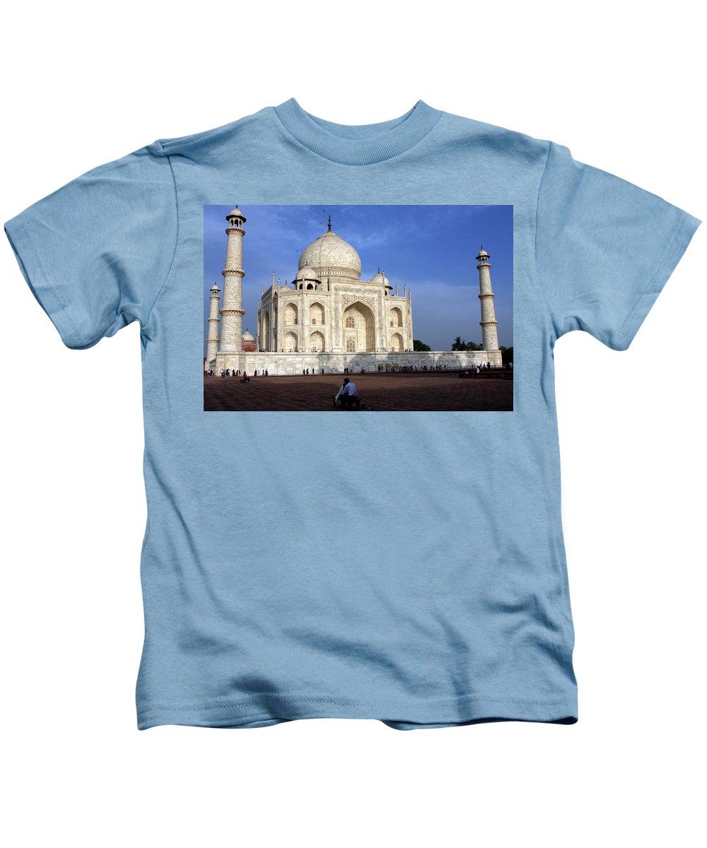 Taj Mahal Kids T-Shirt featuring the photograph Taj Mahal Love by Aidan Moran