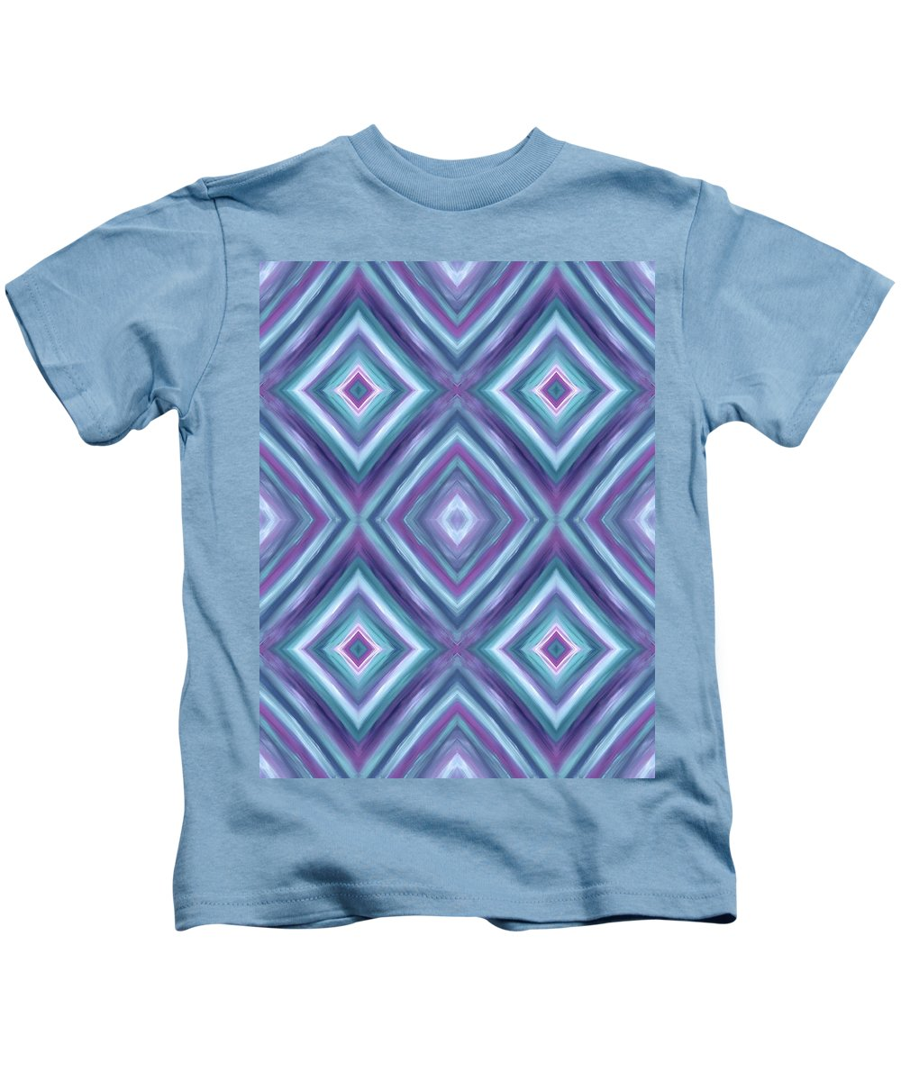 Teal Diamond Dreams Kids T-Shirt featuring the painting Teal Diamond Dreams by Barbara St Jean