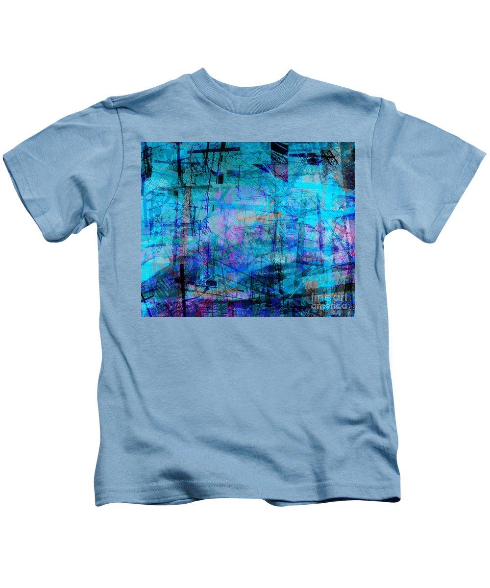 Brandon Lynch Kids T-Shirt featuring the digital art The City 15a by Brandon Lynch