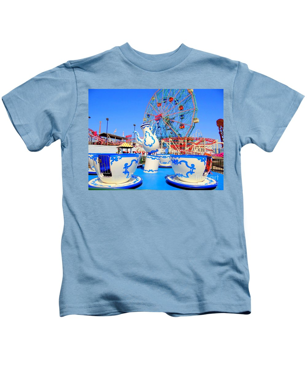 Coney Island Kids T-Shirt featuring the photograph The Colors Of Coney by Ed Weidman
