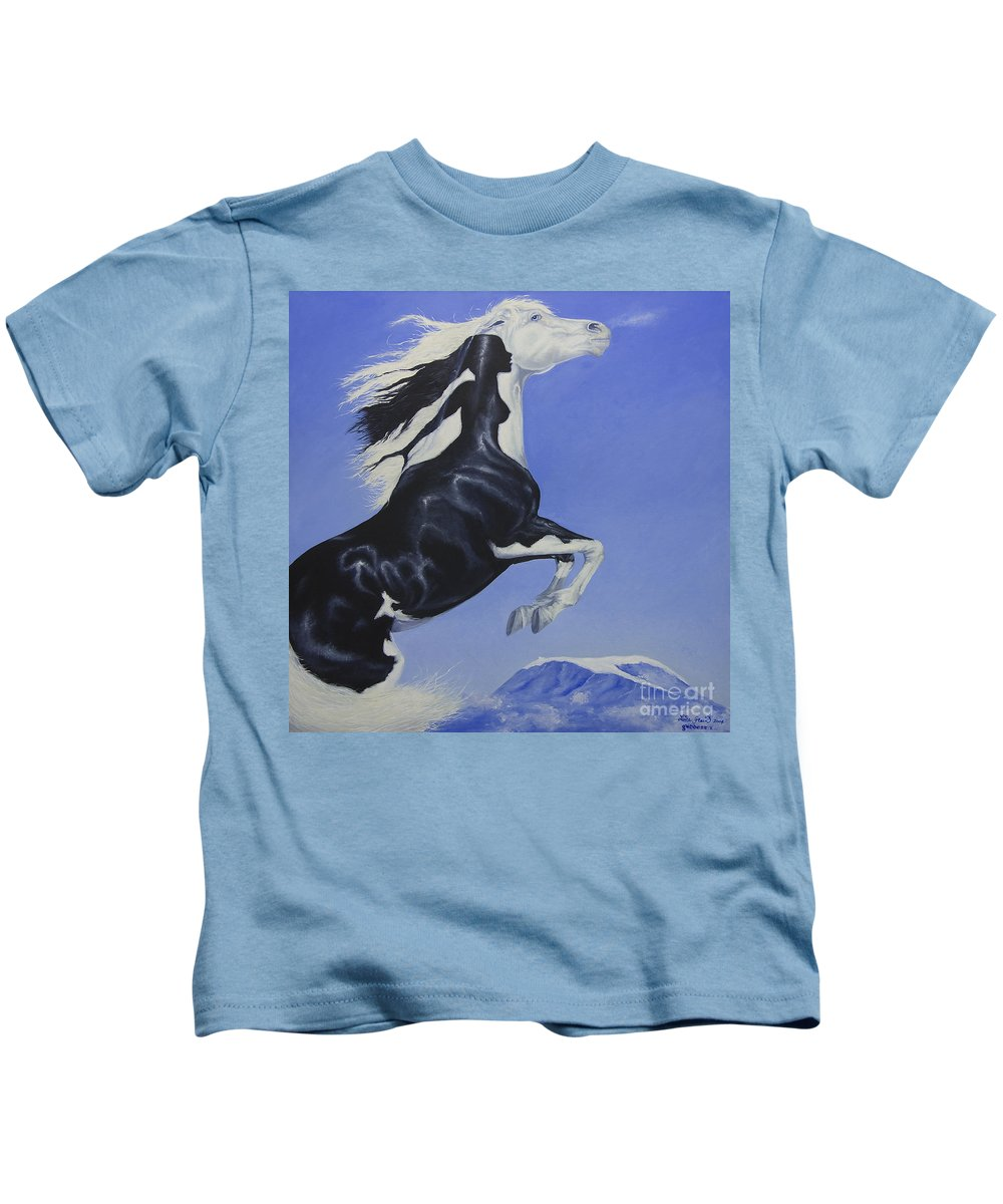 Paint Kids T-Shirt featuring the painting The Goddess Within by Louise Green
