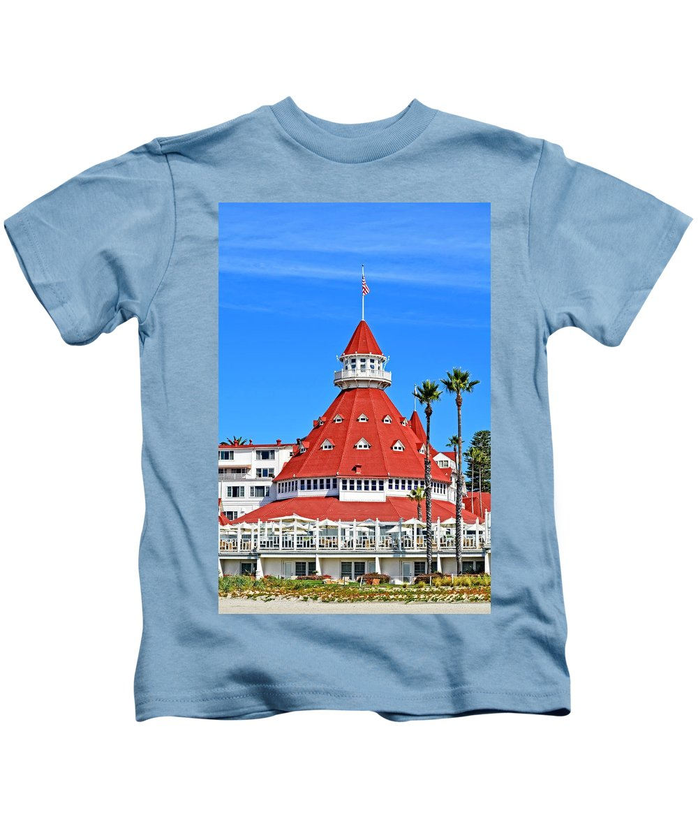 Coronado Kids T-Shirt featuring the photograph The Hotel Of Hotels by Image Takers Photography LLC